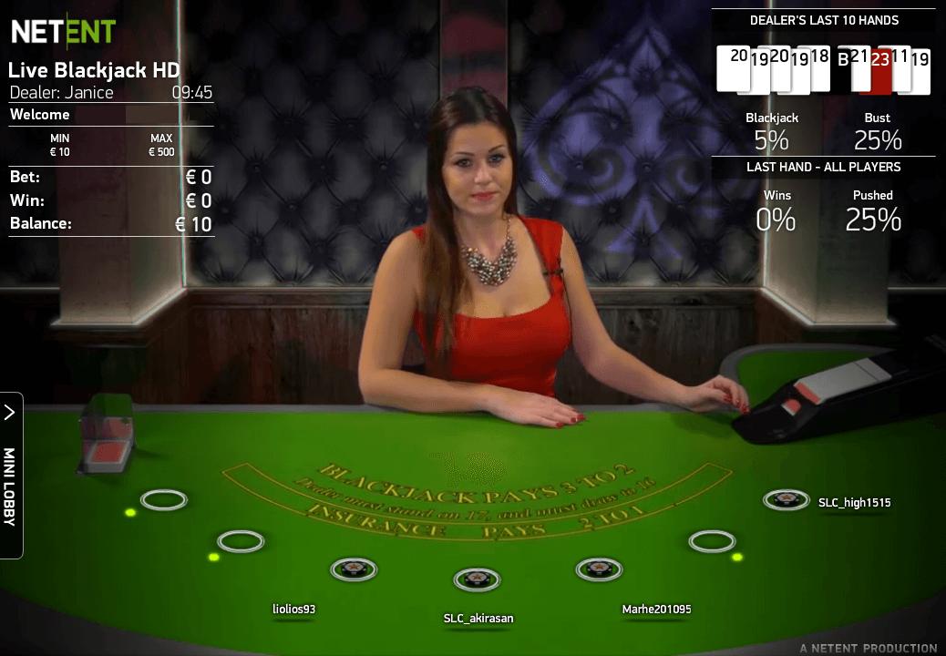 Rizk Review Live Blackjack